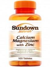 Cálcio + Magnésio + Zinco (100tabs) - Sundown
