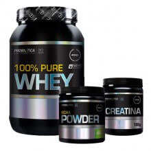 Kit 100% Pure Whey (900g) + BCAA Powder Limonada (200g) + Creatina (100g) - Probiótica