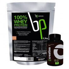 Kit 100% Whey Protein (2,3kg) + Creatina (300g) - BP Suplementos