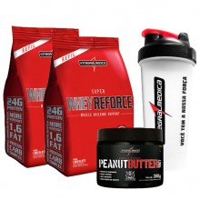 Imagem - Kit 2 Super Whey Reforce Saco (907g) + Peanut Butter Whey (300g) + BRINDE - Integralmédica