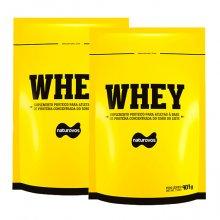 Kit 2 Whey Protein (907g) - Naturovos (Total: 1814g)