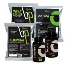 Kit Massa Muscular Completo - BP Suplementos (5 Produtos)