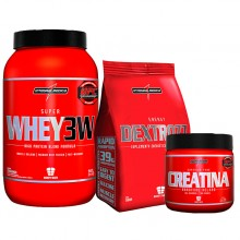 Kit Super Whey 3W (907g) + Dextrose (1kg) + Creatina (150g) - Integralmédica