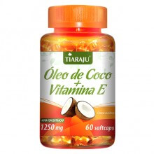 Óleo de Coco + Vitamina E 1250mg (60caps) - Tiaraju