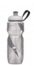 Garrafa Térmica Prata c/ Preto (590ml) - Polar Bottle