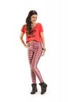 Imagem - Blusa Cropped Feminina Rosa Tatuada Casual Fit 4407 - 050946