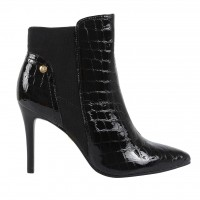 Imagem - Bota Ankle Boot Jorge Bischoff Croco Verniz J51082005 A01  - 054496