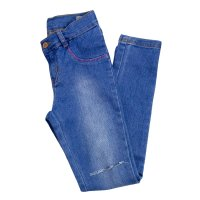 Imagem - Calça Jeans Infantil Feminina Hering Kids C5b5lyzej - 055557