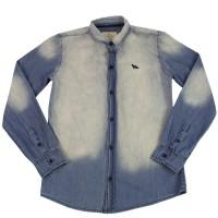 Imagem - Camisa Jeans Infantil Acostamento 68401039  - 046476
