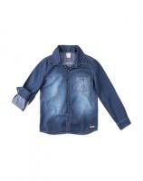 Imagem - Camisa Jeans Infantil Menino Hering Kids C25pjelus - 055078