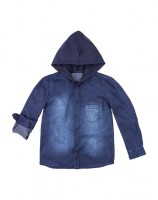 Imagem - Camisa Jeans Infantil Hering Kids C25xjelus  - 054756