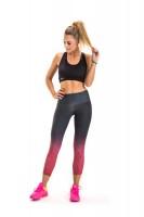 Imagem - Legging Feminino Rosa Tatuada Fitness Degradê 454506 - 050983