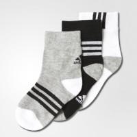 Imagem - Kit Meias Adidas Ankle Mid Fun Kids 3 pares Ab2225 - 048667