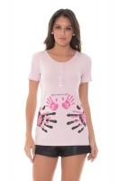 Imagem - Kit Mamãe e Bebê Recco Camiseta + Body 09788  - 051766