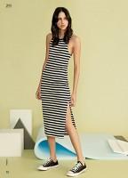 Imagem - Vestido Feminino Ellus Second Floor Stripes Fenda 19sn312 - 052464