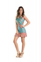 Imagem - Vestido Jacquard Feminino Rosa Tatuada 4331  - 050931