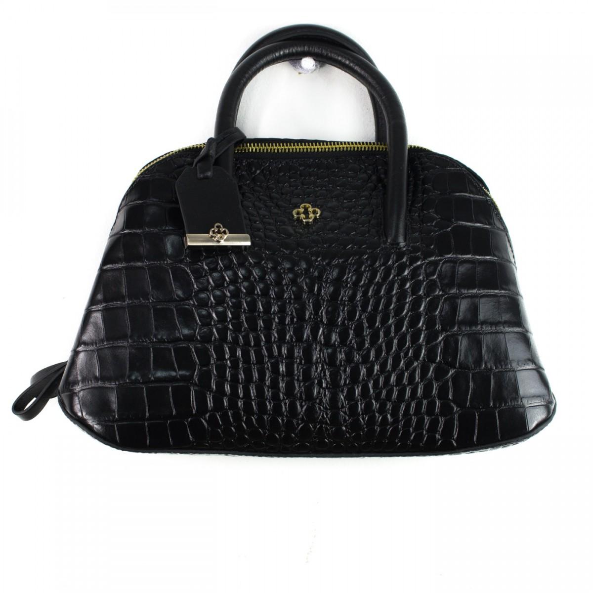 Bolsa Feminina De Couro Capodarte : Bizz store bolsa feminina capodarte croco couro preta