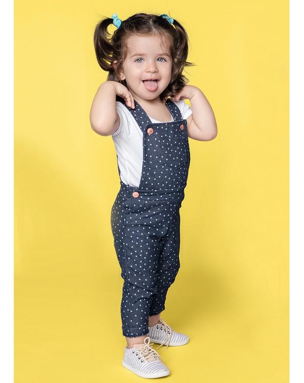 Bizz store jardineira jeans infantil feminina hering for Jardineira jeans feminina c a