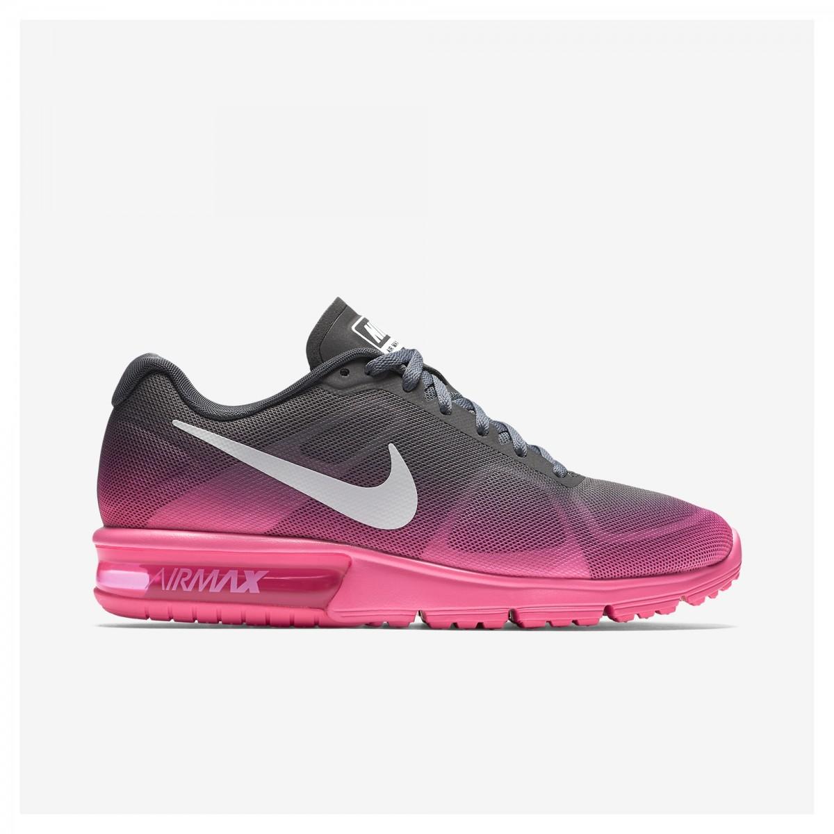 tenis nike air max cinza e rosa