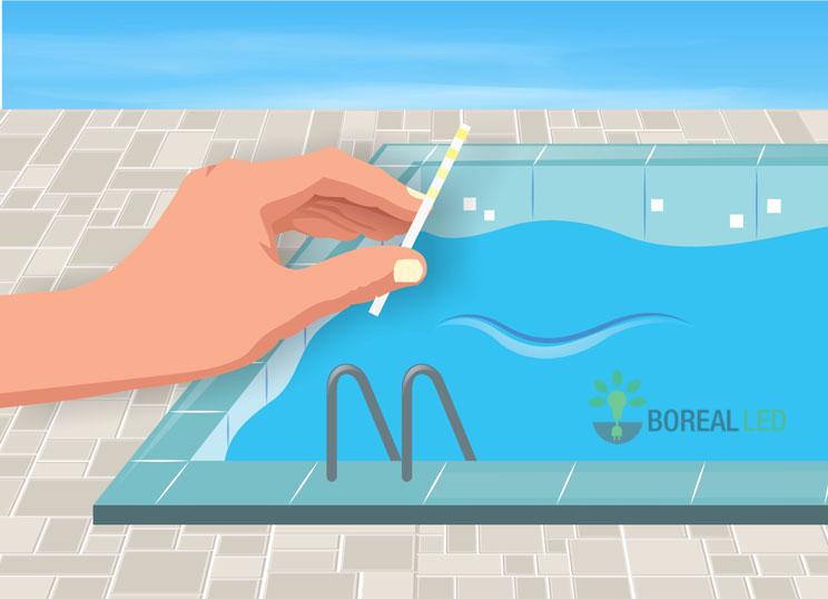 medir ph da piscina