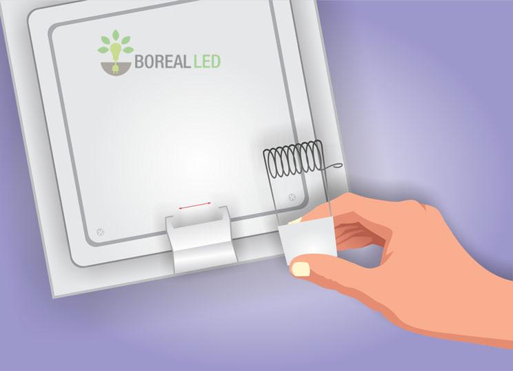colocar presilha em luminaria de embutir led