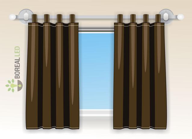 cortina instalada em varao