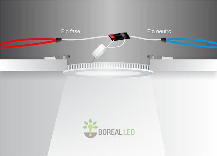 plafon led embutir quadrado 3w luminária led embutir slim