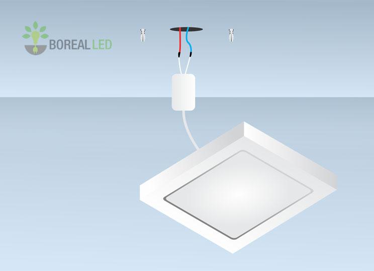 instalar sobrepor led em teto ou parede