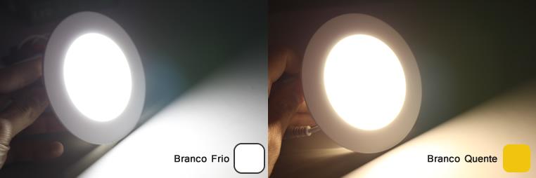 plafon led embutir redondo 6w slim