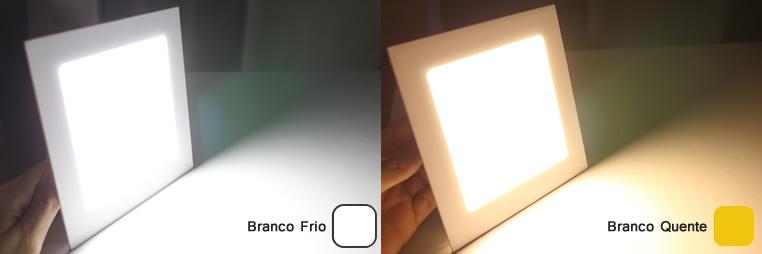 Plafon LED Embutir Quadrado 12W Luminária LED Embutir Slim