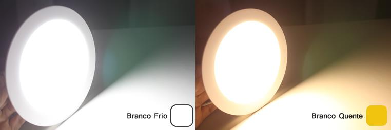 Painel Plafon Luminária LED Redondo Embutir Slim 12W
