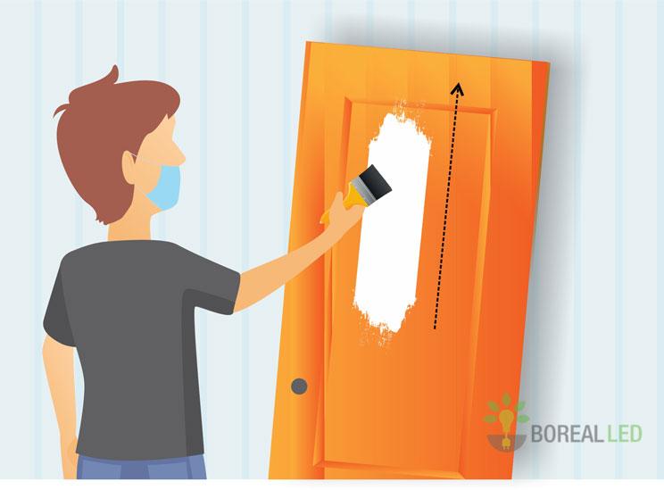 pintando a porta