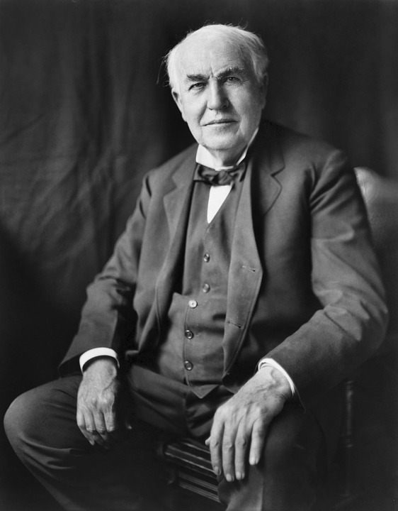 retrato de thomas edison