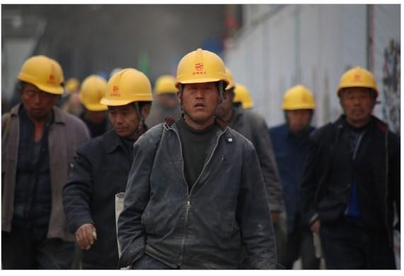 trabalhadores siderúrgica china