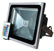 Refletor LED Holofote 30W RGB Colorido Controle Remoto 16 Cores Bivolt CTB