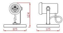 Spot Sobrepor Direcionável P/ Lâmpada PAR 20/30/38 E27 Acabamento Branco