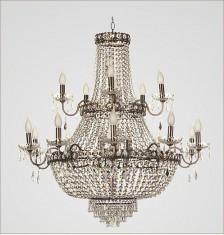 Imagem - Lustre Império Ouro Velho com Cristais Transparentes 15 braços