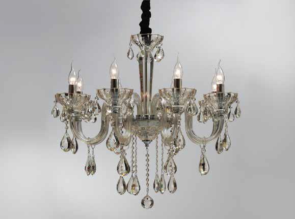 lustre em cristal champagne 8 bra os sd9840 8 champagne boutique dos lustres loja de. Black Bedroom Furniture Sets. Home Design Ideas