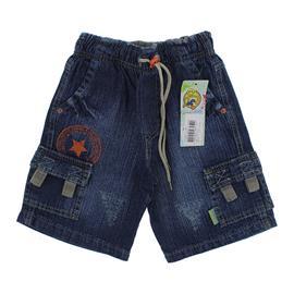 Bermuda Jeans Infantil com Elástico na Cintura Menino