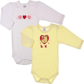 Kit de Body Manga Longa 2 pçs Love - cod. 5798