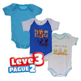 Bodies Basico para Beb� Masculino 3 pcs - 8726