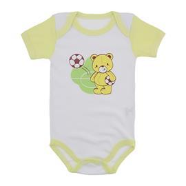 Body Bebê Manga Curta Colorida Estampado