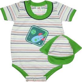 Body Manga Curta Bebê Bonézinho Menino 5038