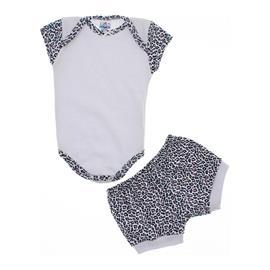 Body com Shorts Oncinha para Beb� Menina 9919