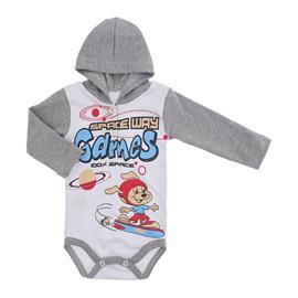 Body Bebê com Capuz Lapuko Estampado