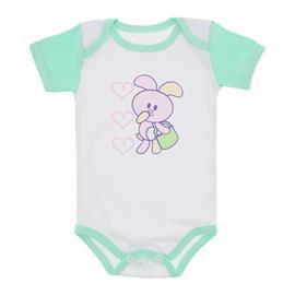 Body para Beb� Menina Mangas Coloridas