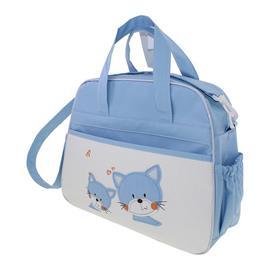 Bolsa de Beb� Azul Gatinho 9767