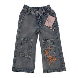 Calça Jeans Infantil Feminina Bordada Chicote - 9837