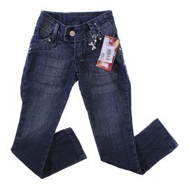 Calça Jeans Infantil Menina Com Pingente - 9898