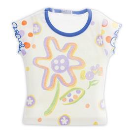 Camiseta com Estampa Floral - Infantil - cod. 8007